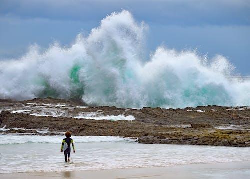 Foto profissional grátis de jato, litoral, oceano, oceano poderoso