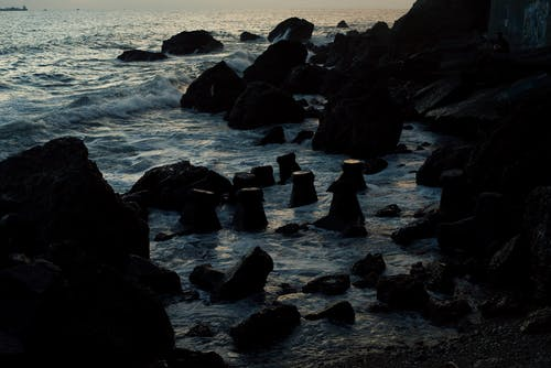 Free stock photo of beach, by the sea, dark