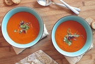 food, spoon, soup