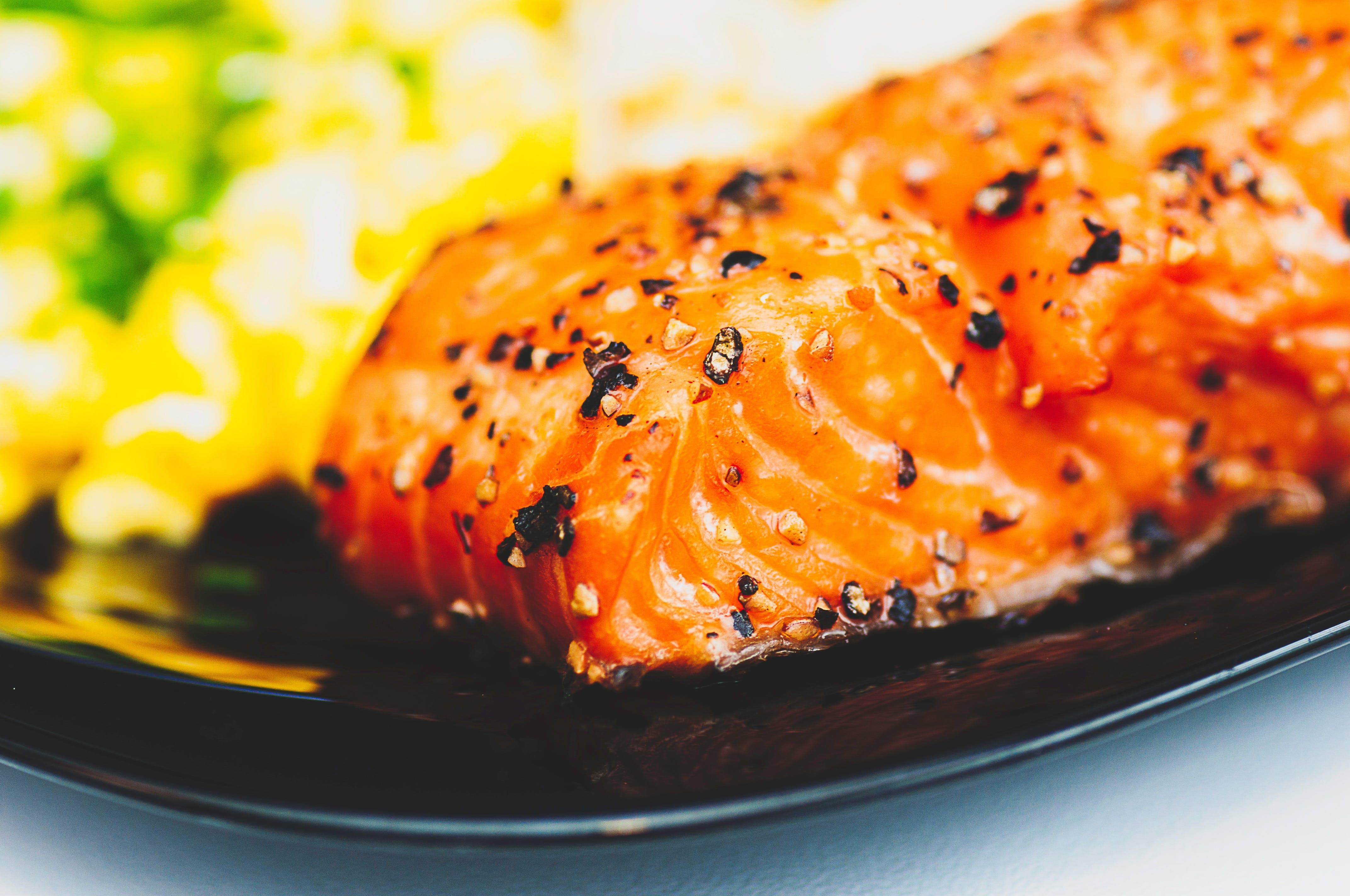 Sashimi on Black Plate