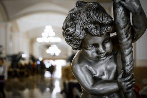 Foto d'estoc gratuïta de estàtua, gris, negre