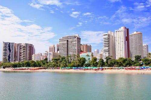 Δωρεάν στοκ φωτογραφιών με γαλάζιος ουρανός, θέα στην παραλία, καθαρός ουρανός, καλοκαίρι