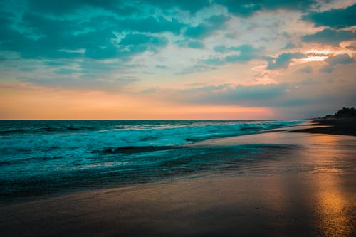Δωρεάν στοκ φωτογραφιών με άμμος, γουατεμάλα, δύση του ηλίου, θάλασσα