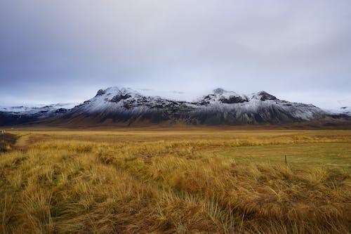 Gratis lagerfoto af agerjord, bane, bjerg, gård