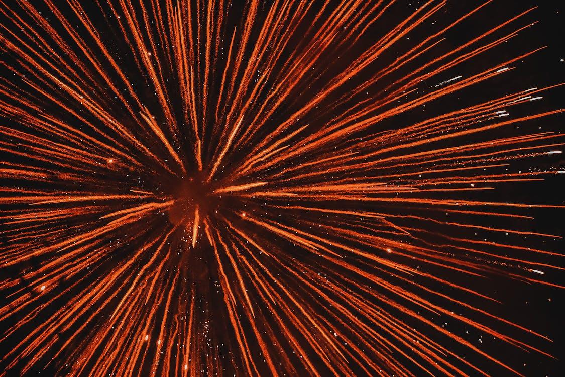 noc, nový rok, ohňostroj