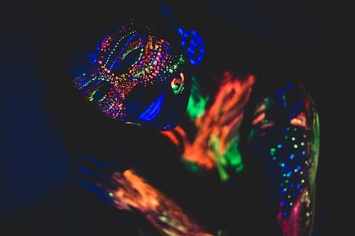 Free stock photo of art, make up, neon
