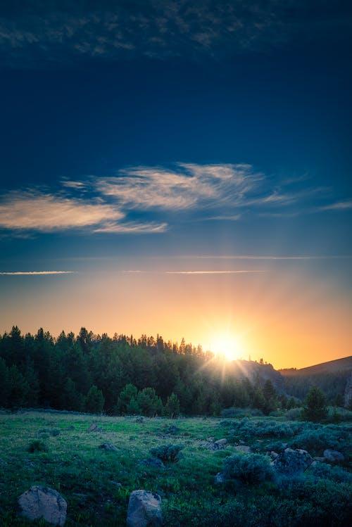 Photos gratuites de android, bleu, coucher de soleil, écran verrouillé