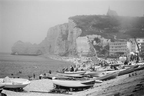 Fotobanka sbezplatnými fotkami na tému člny, Francúzsko, normandie, skaly