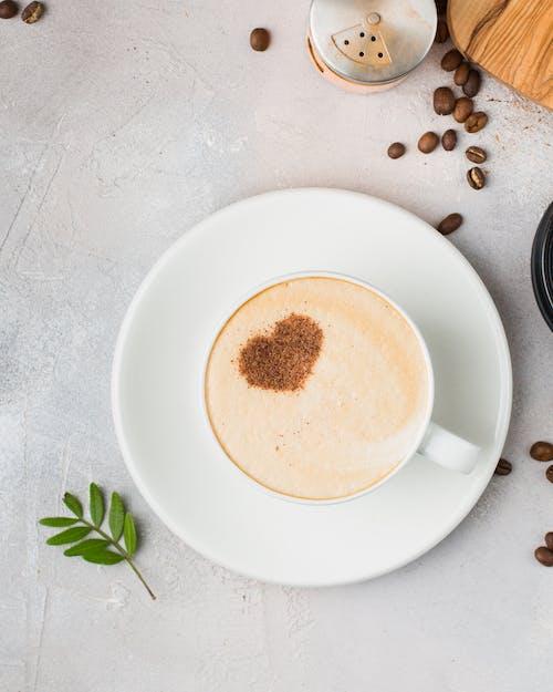 Základová fotografie zdarma na téma hrnek, kapučíno, káva, kofein