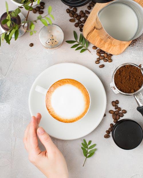 Ảnh lưu trữ miễn phí về cà phê cappuccino, cafein, chăm học, cốc