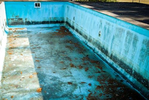 プール, 古い, 廃墟, 青の無料の写真素材