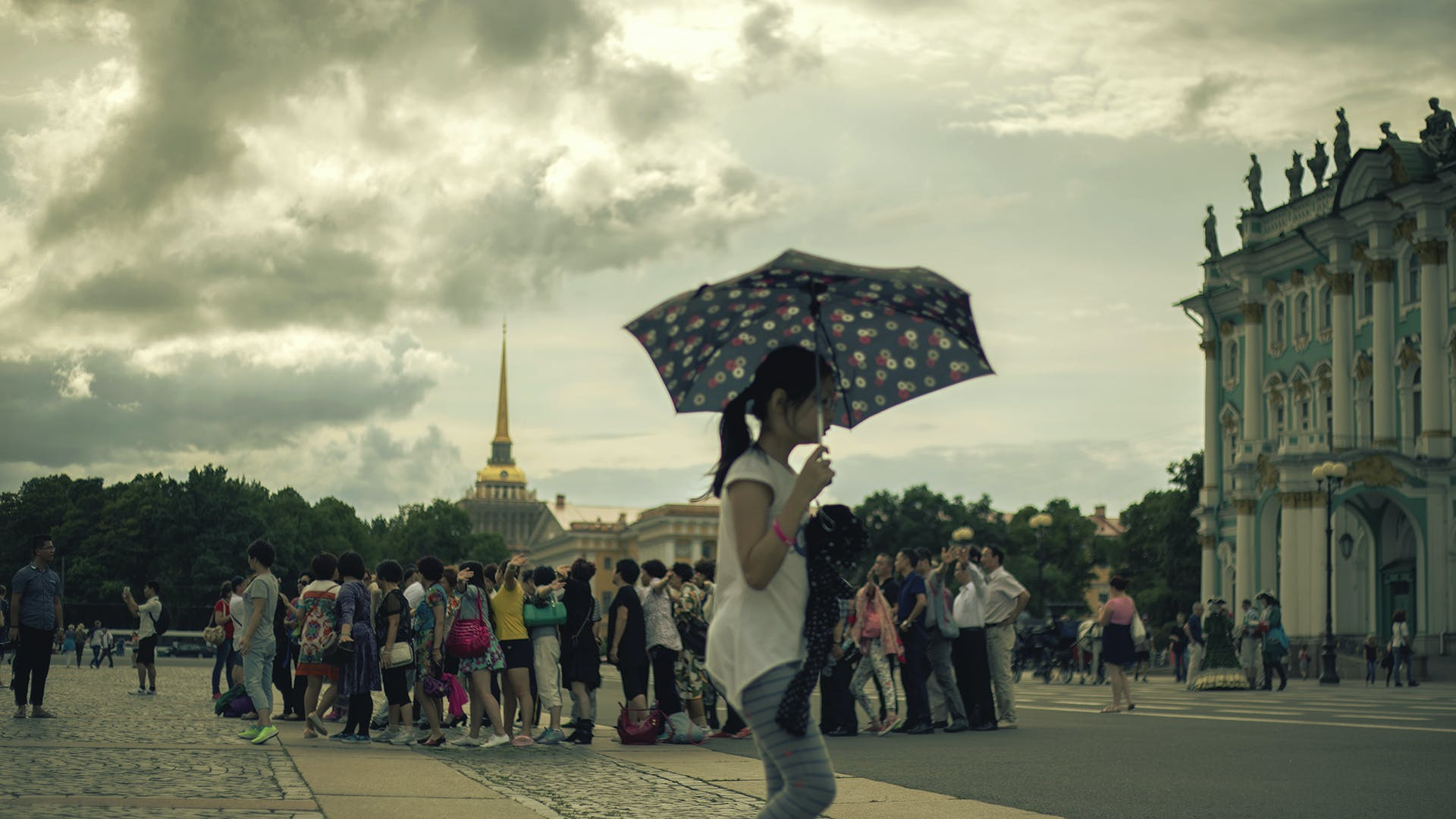 Free stock photo of city, people, sky, umbrella