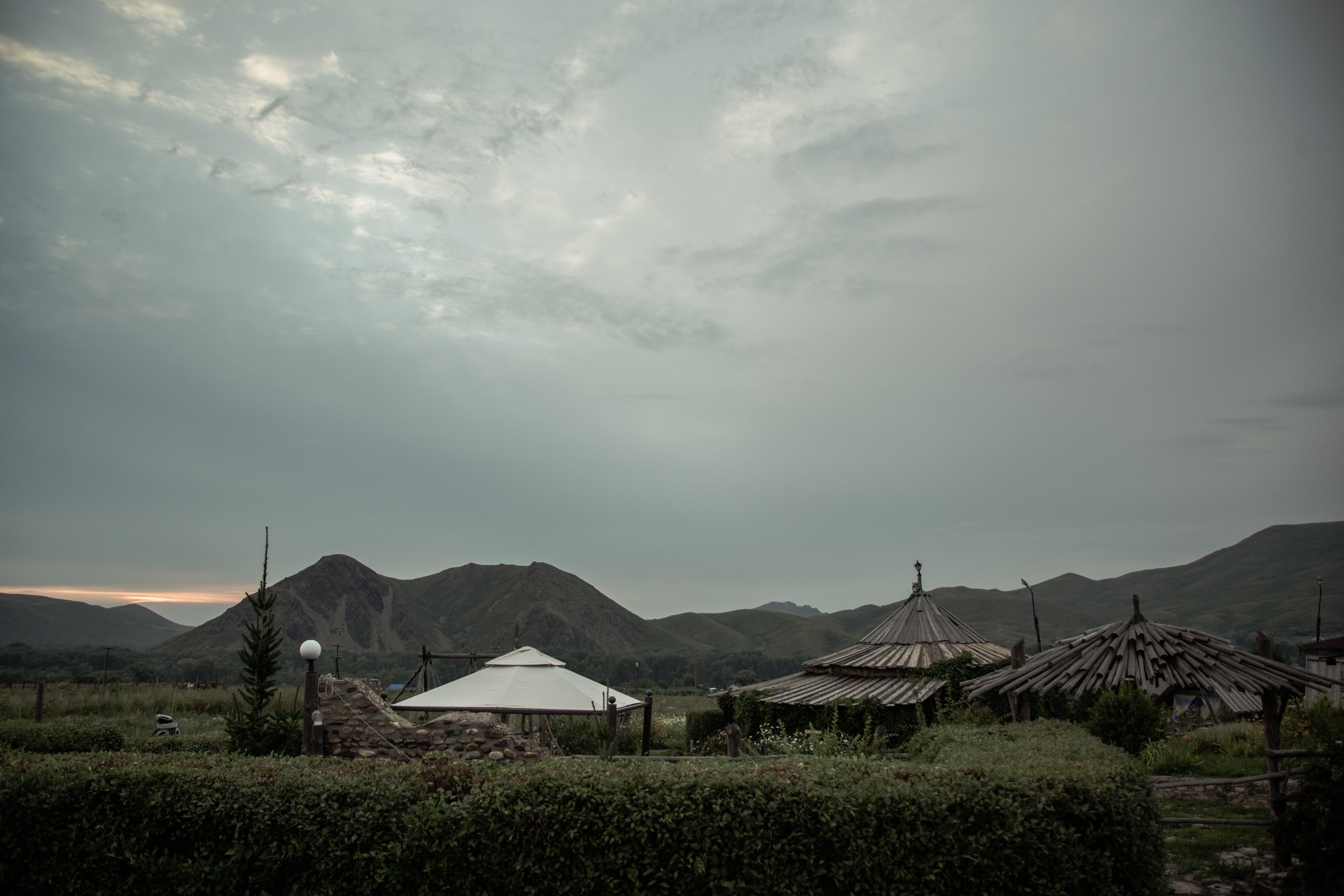 clouds, evening, landscape