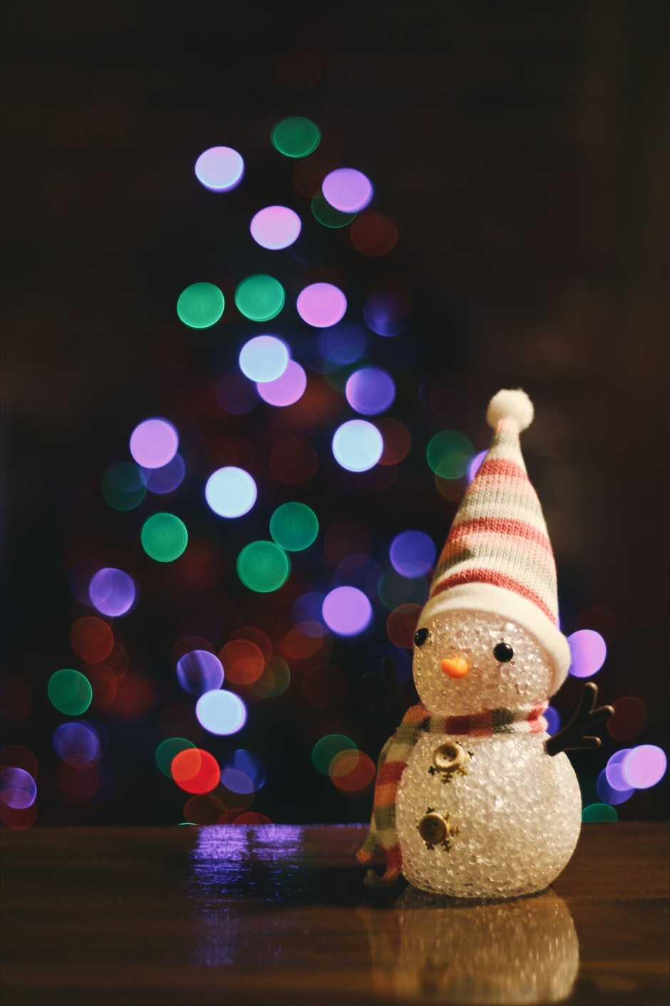 blurred, bokeh, christmas
