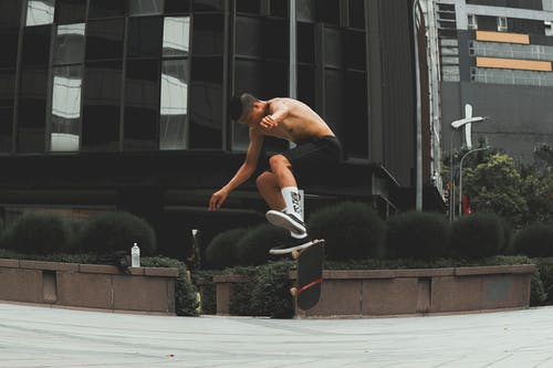 Man Doing Skateboard Tricks