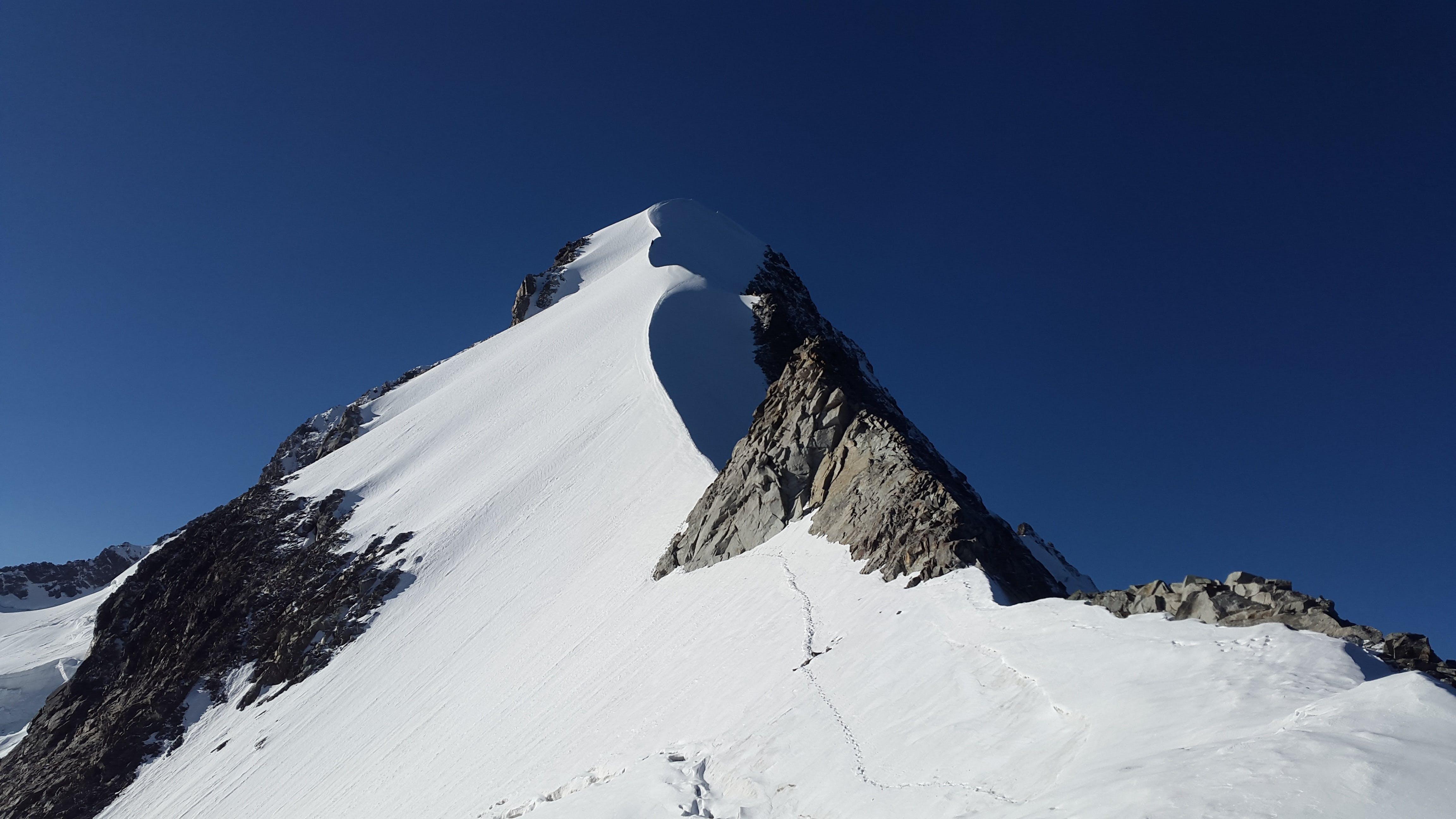Mountain Range With Snow