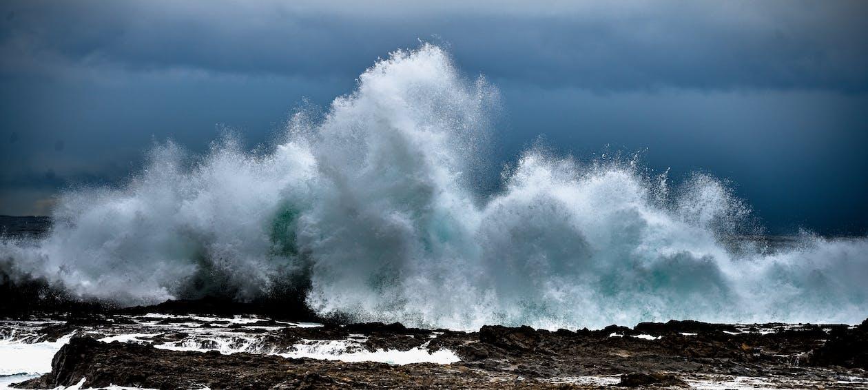 espuma, mar, oceano