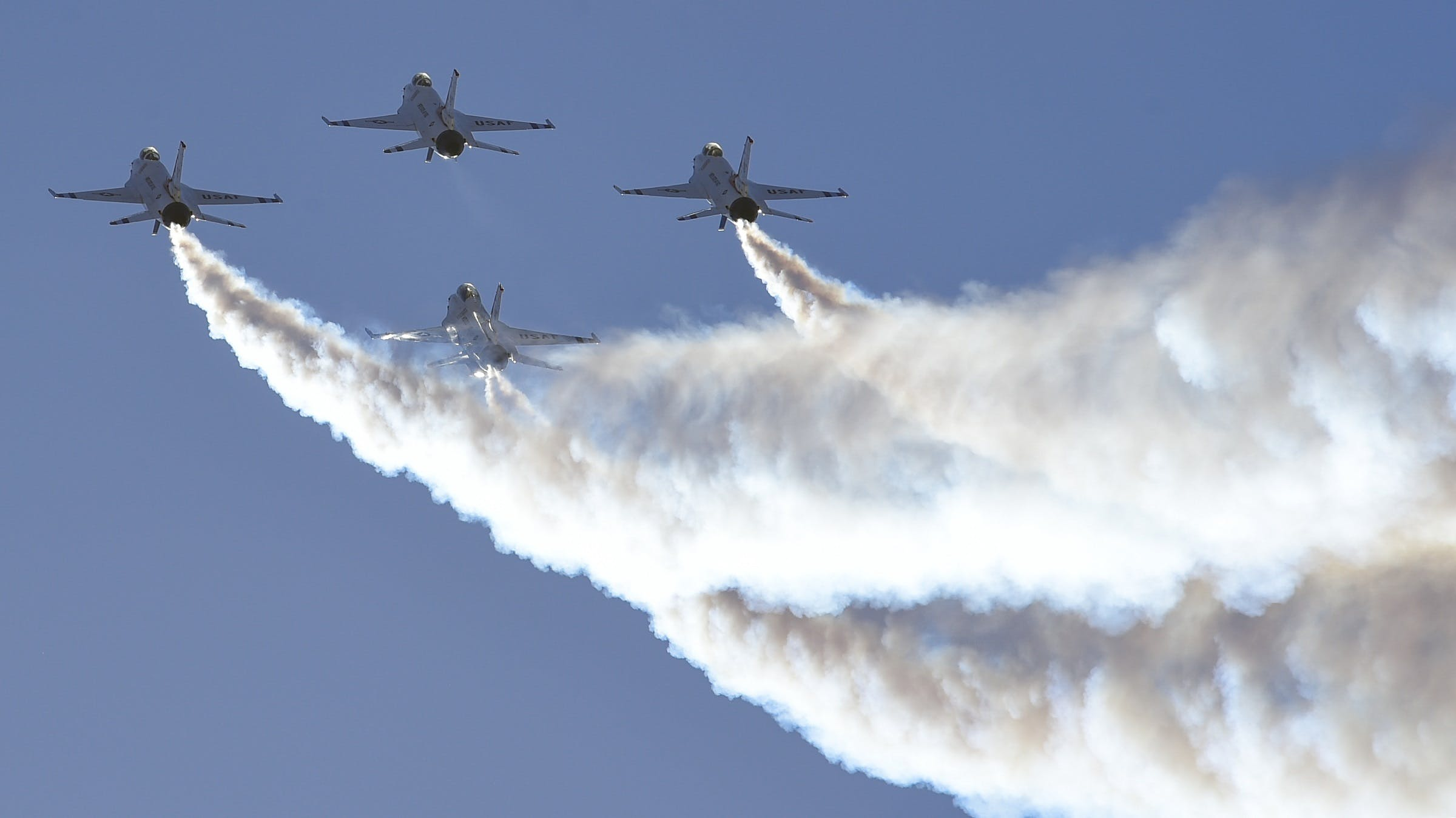 Free stock photo of plane, group, smoke, military