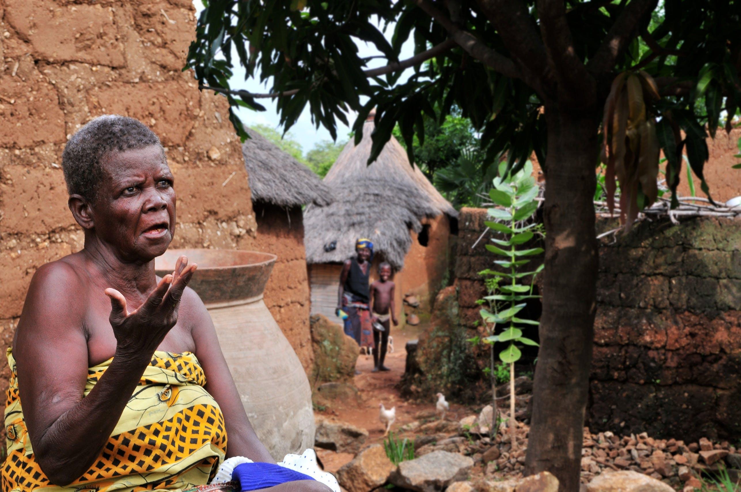 Free stock photo of woman, village, africa, black