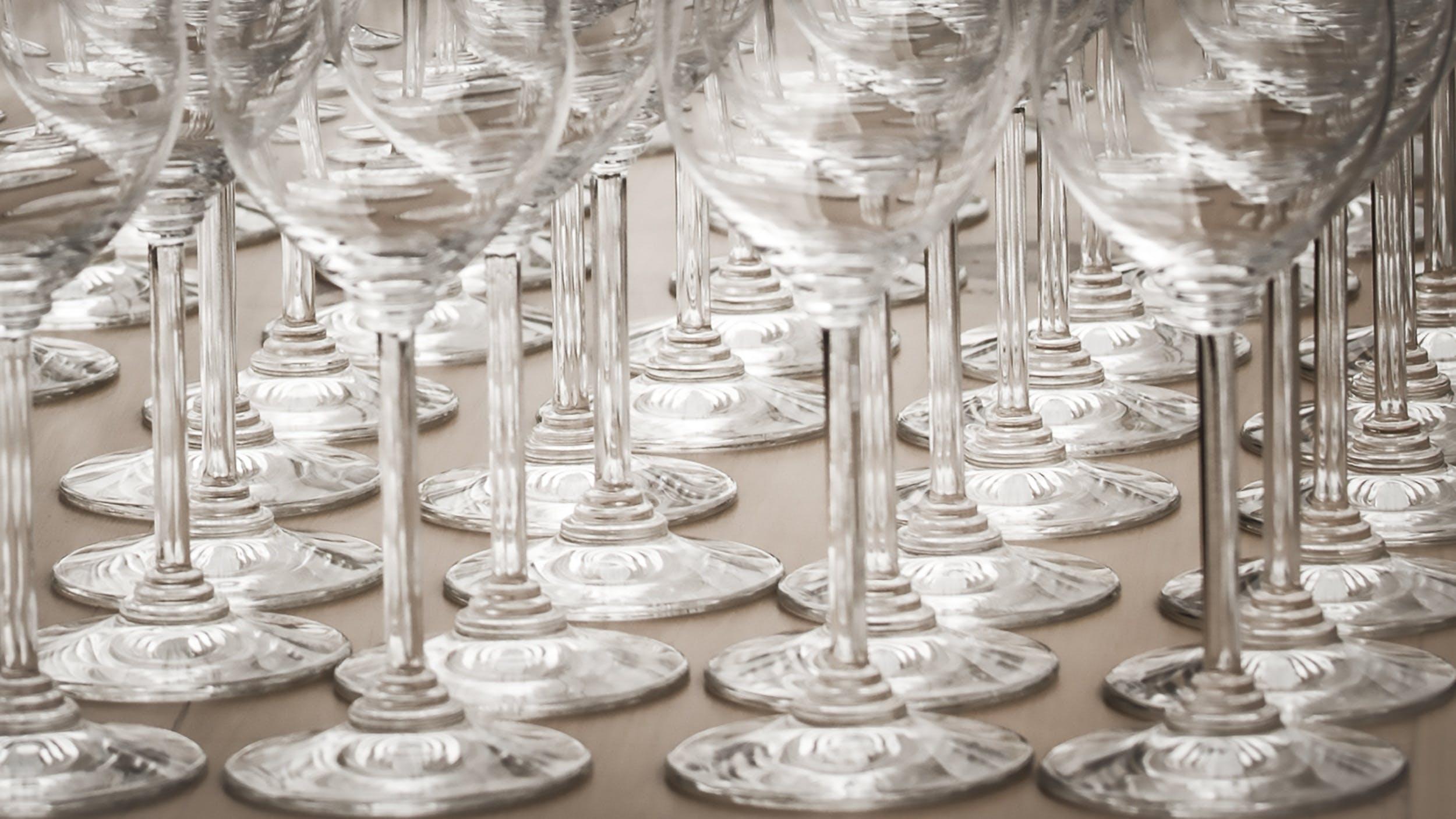 Clear Wine Glass Lot