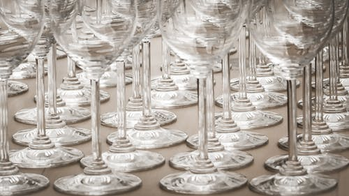 Clear Wine Glass Lot
