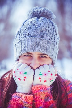 Free stock photo of cold, snow, person, girl