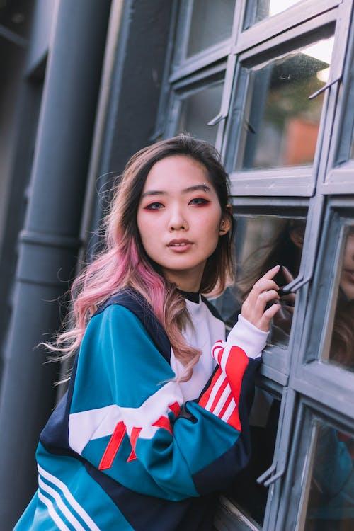 Ilmainen kuvapankkikuva tunnisteilla aasialainen nainen, asento, asu, henkilö