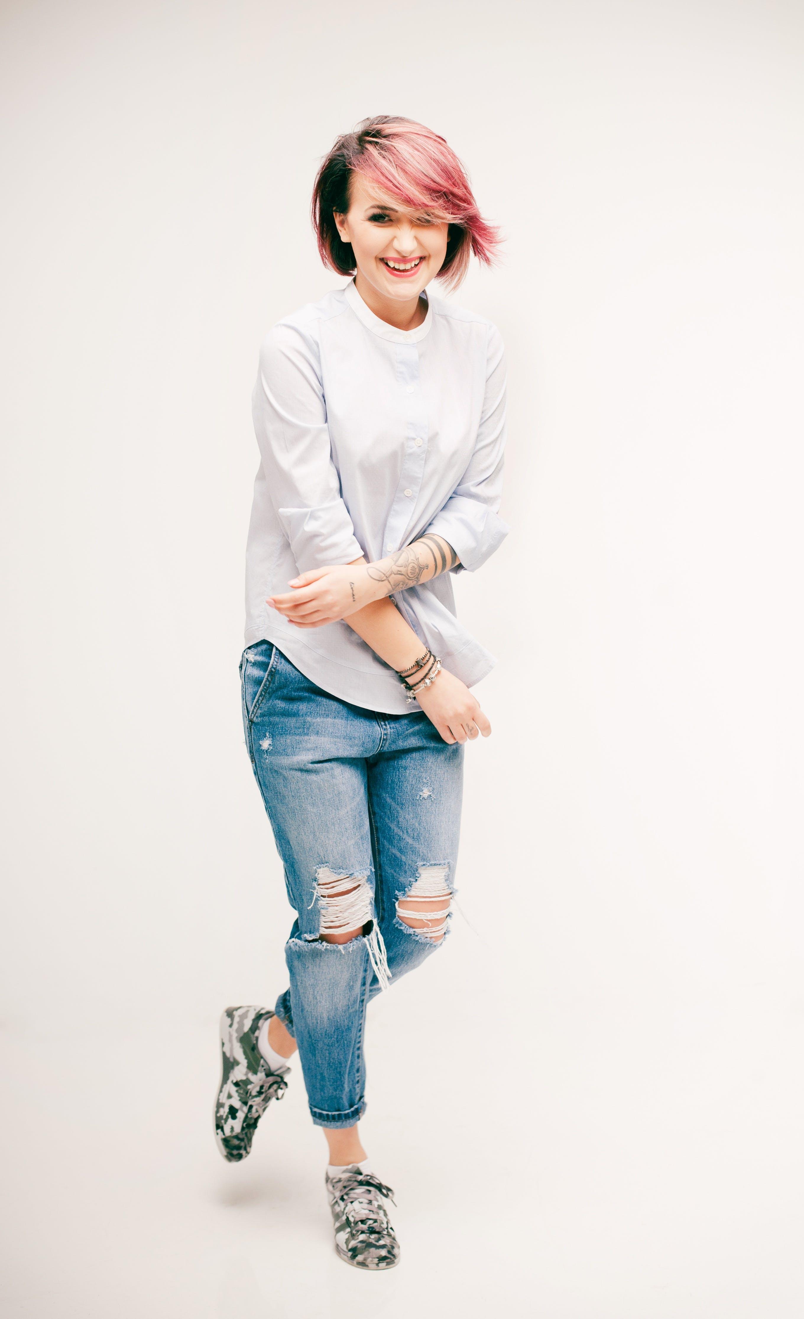Free stock photo of fashion, girl, portrait, smile