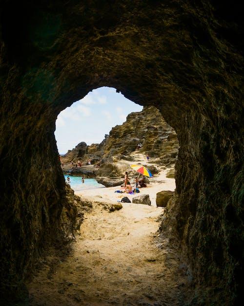 동굴, 모래, 슬관, 영원의 해변의 무료 스톡 사진
