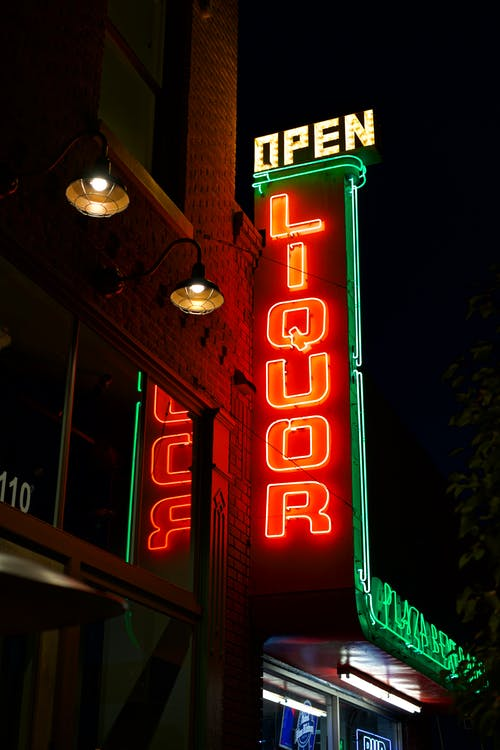 Open Liquor Building Led Signage
