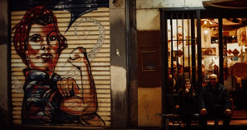 Free stock photo of bench, graffiti, milan, muscles