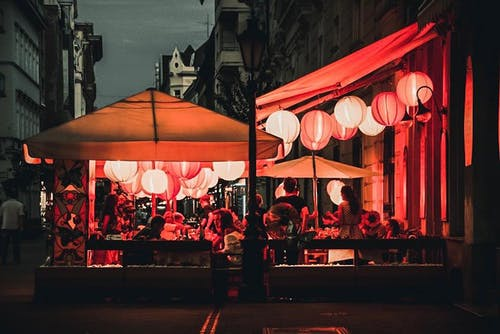 Free stock photo of dinner, food, lights, local