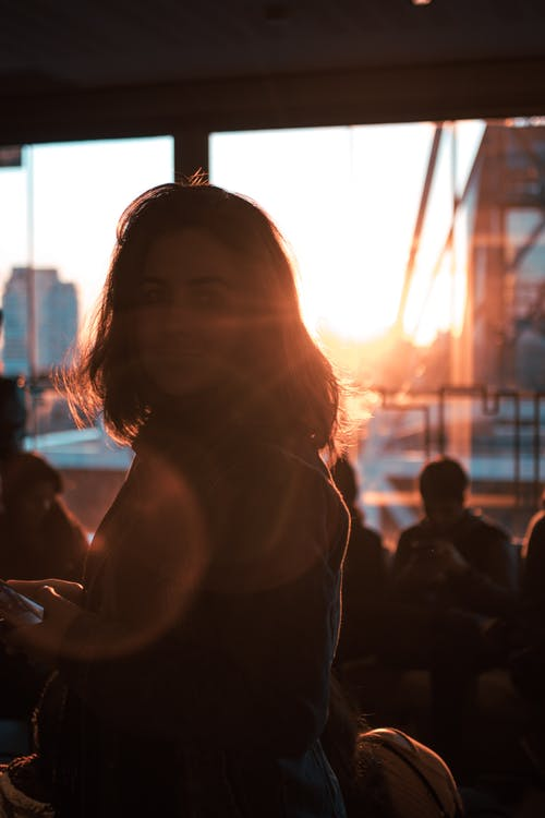 Free stock photo of café, sunset, woman