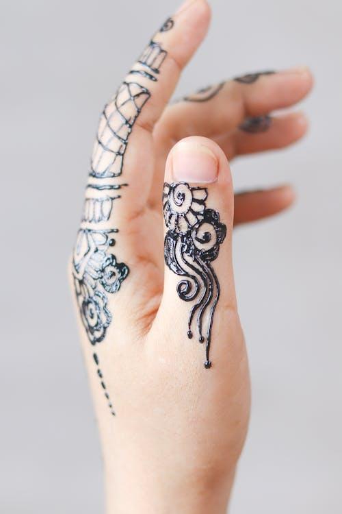 临时纹身, 手, 手指, 拇指 的 免费素材照片