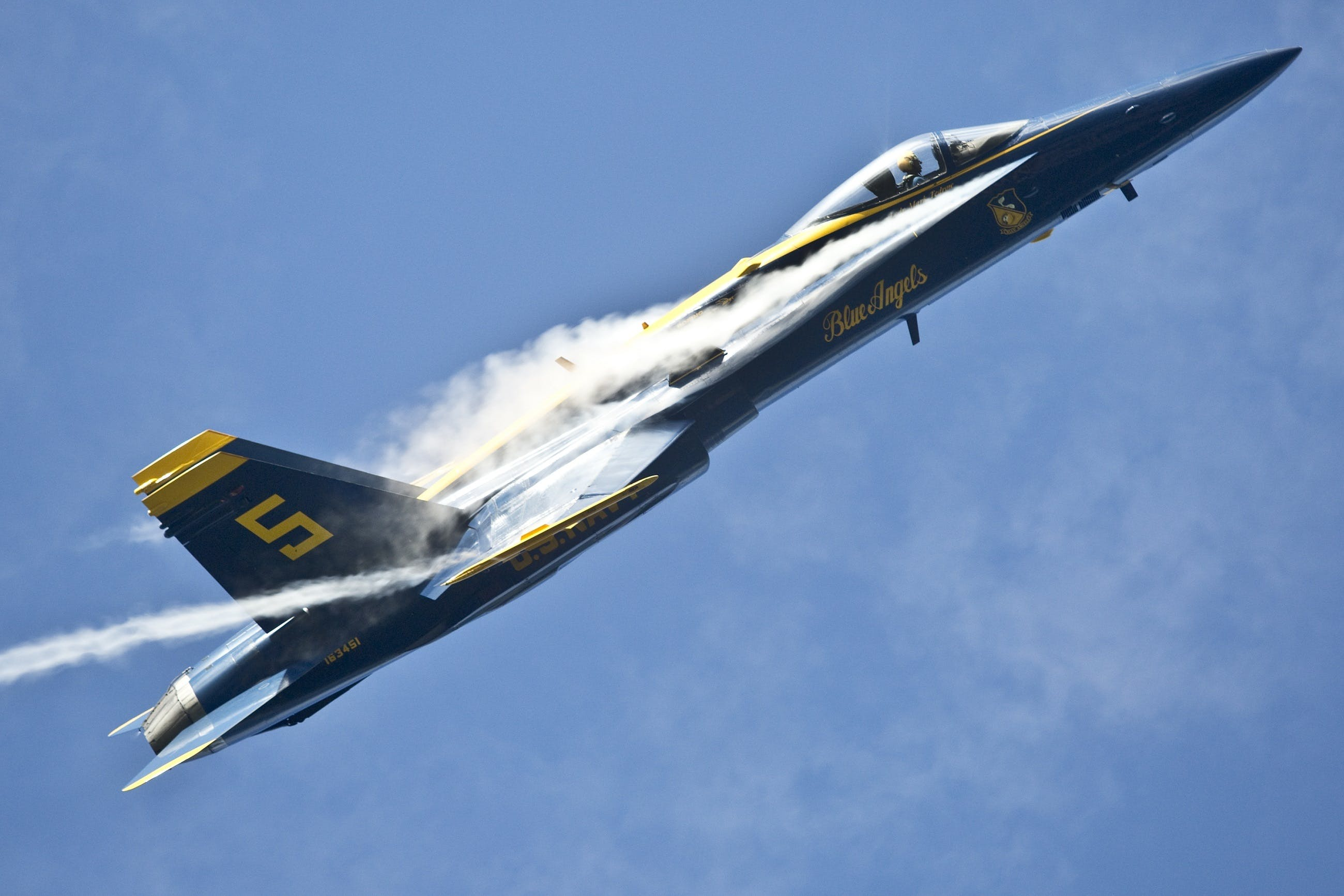 Gratis lagerfoto af blå himmel, blue angels, demonstration, fart