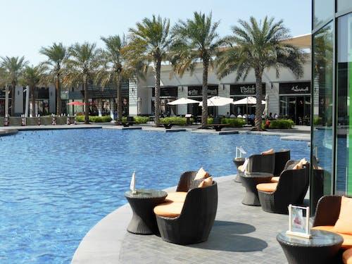 Foto profissional grátis de água, ao lado da piscina, assento, cadeira