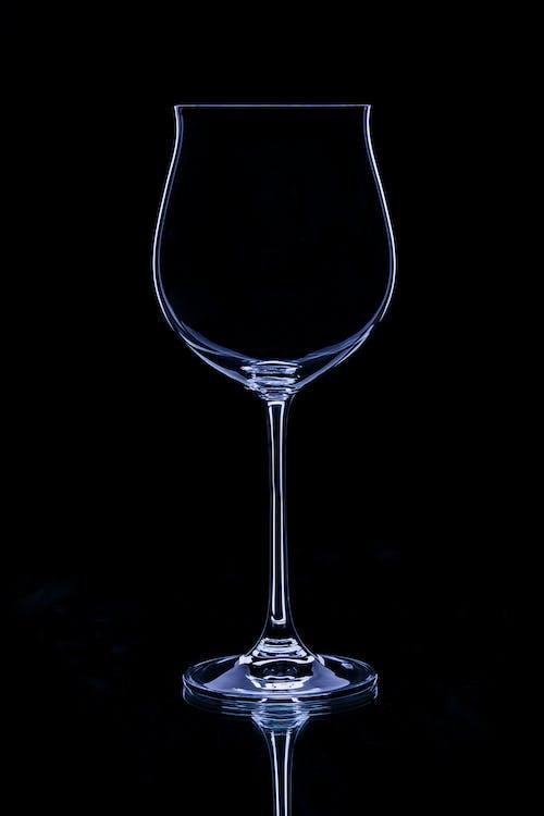 คลังภาพถ่ายฟรี ของ ขาวดำ, สง่า, แก้วไวน์