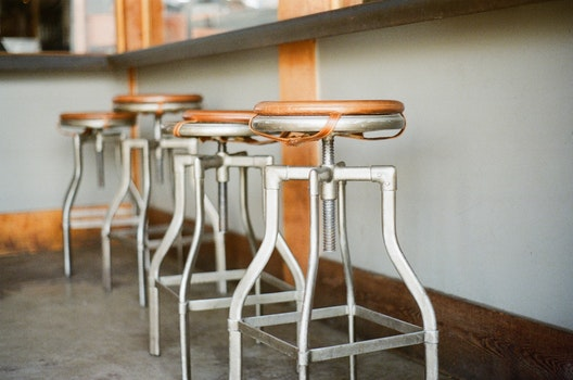 Free stock photo of bar, old, stools