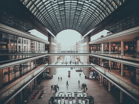 Free stock photo of people, building, architecture, shops