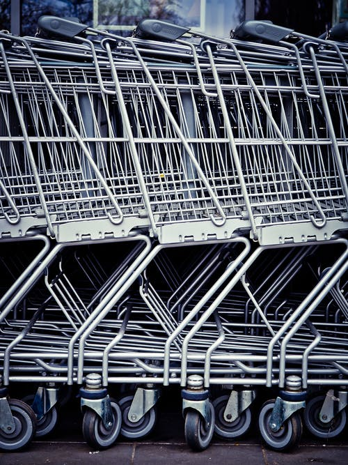 Shopping Carts Aligned