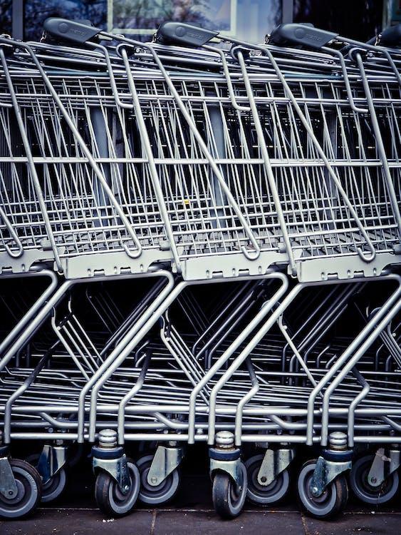 Shopping Carts Aligned