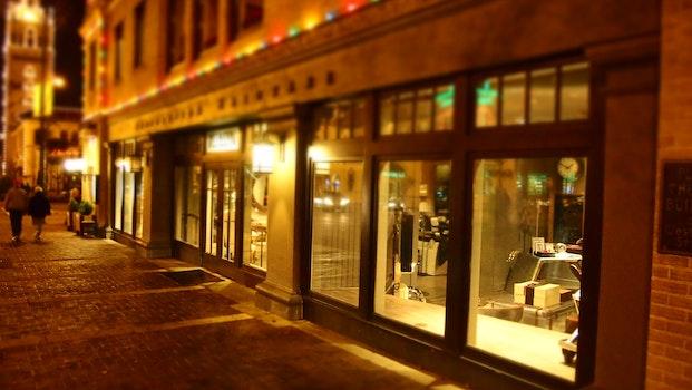 Free stock photo of light, city, restaurant, street