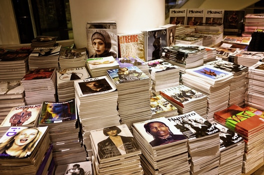 Free stock photo of books, magazines, school, blur