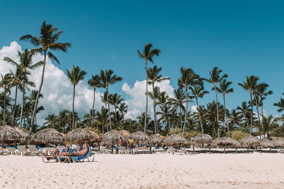 areia, caribe, letovisko