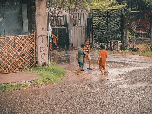 Free stock photo of after the rain, fun, kids, play