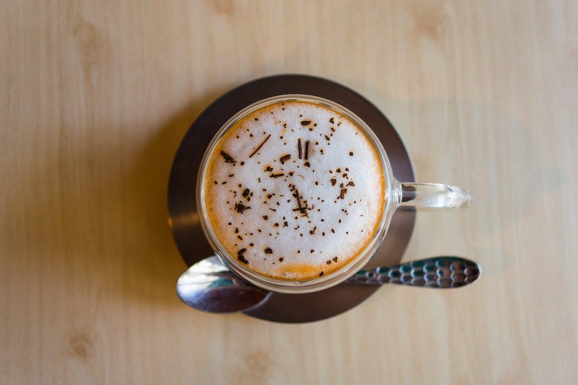 becher, café, cappuccino