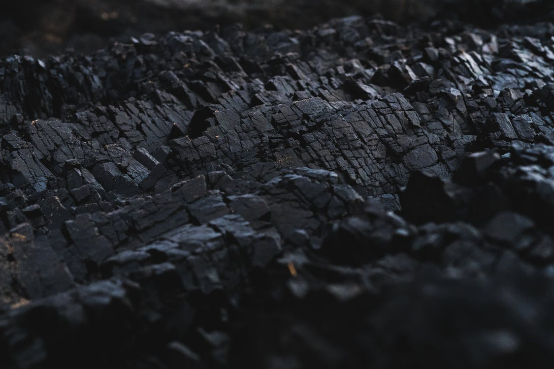 Black charcoal formation
