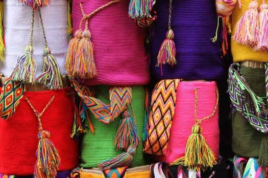 Free stock photo of colorful, shop, traditional, bag