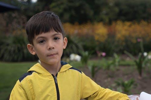 Бесплатное стоковое фото с желтый, мальчик, ребенок