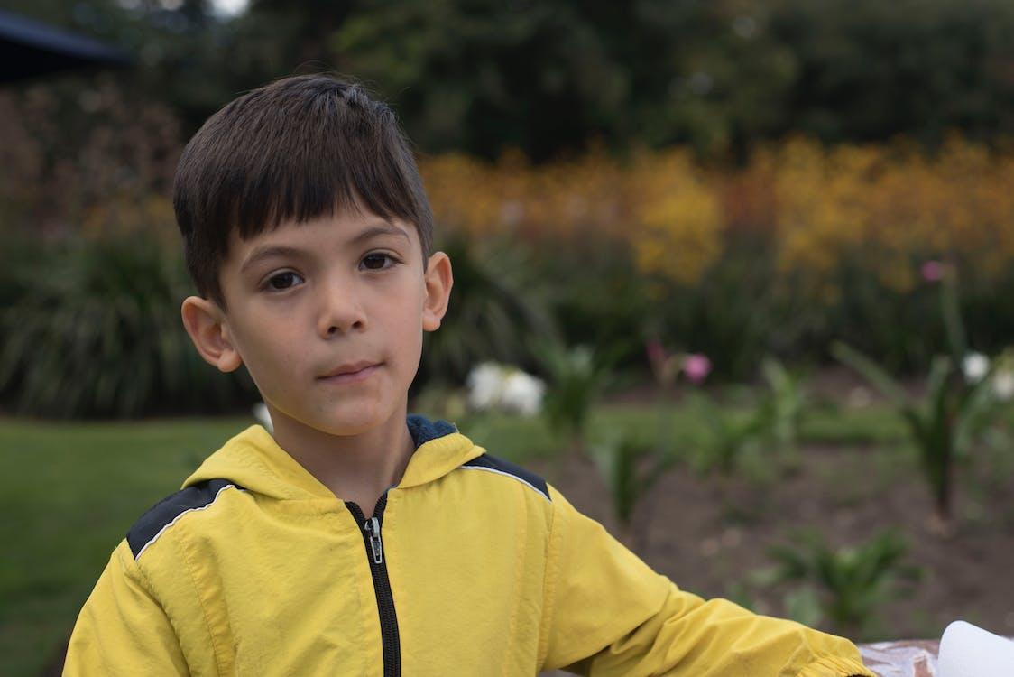 chlapec, dítě, žlutá